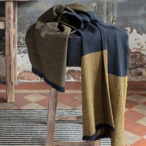 Cumin Merino Wool Throw by Brun De Vian-Tiran