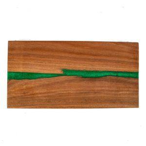 Large Handmade Karri Wood Grazing Board (Green Pearl)